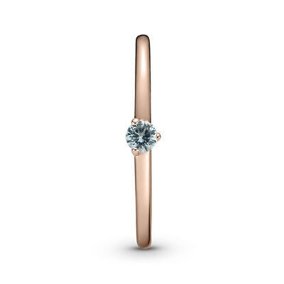 Pandora Rose™ Light Blue Solitaire CZ Ring