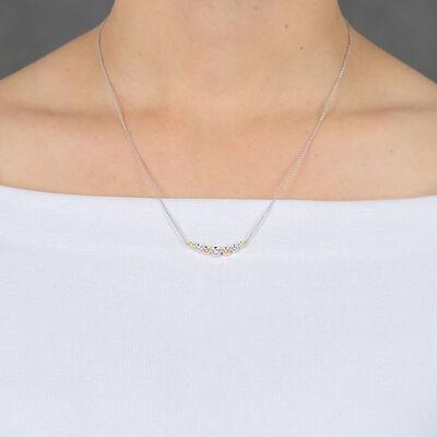 Graduated Yellow & White Diamond Necklace 14K