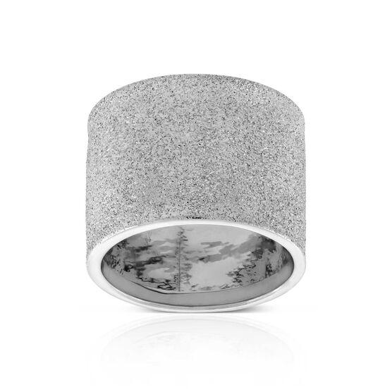 Toscano Wide Glitter Band 14K, Size 7