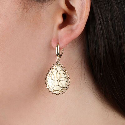 Toscano Drop Shape Earrings 14K
