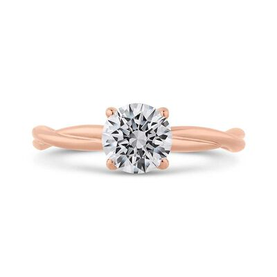 Bella Ponte Rose Gold Diamond Engagement Ring Setting 14K