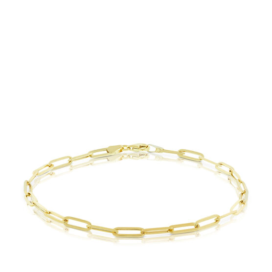 """Paperclip Chain Anklet 14K, 10"""""""