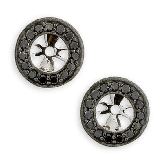 Black Diamond Earring Jackets 14K