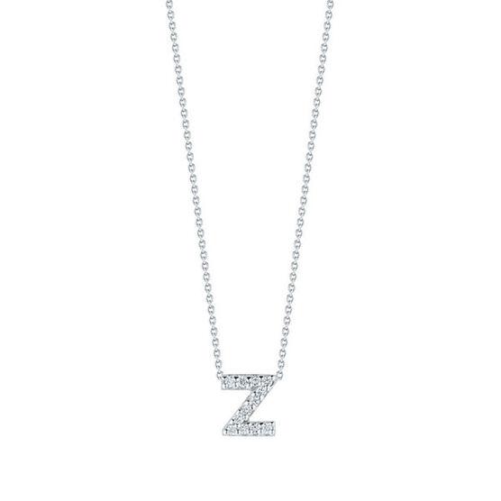 Roberto Coin Tiny Treasures Diamond Initial Pendant 18K Letter 'Z'