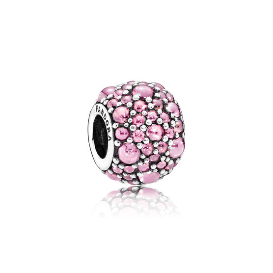 PANDORA Pink Shimmering Droplets Charm