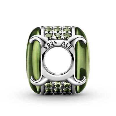 Pandora Green Oval Cabochon Crystal Charm