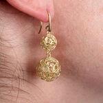 Toscano Mesh Sphere Earrings 14K