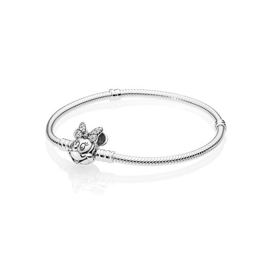 Pandora Disney, Shimmering Minnie Portrait CZ Bracelet