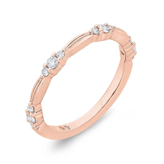 Bella Ponte Rose Gold Diamond Band 14K