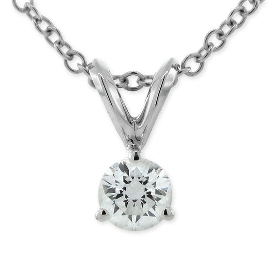 Diamond Pendant 14K, 1/5 ct.
