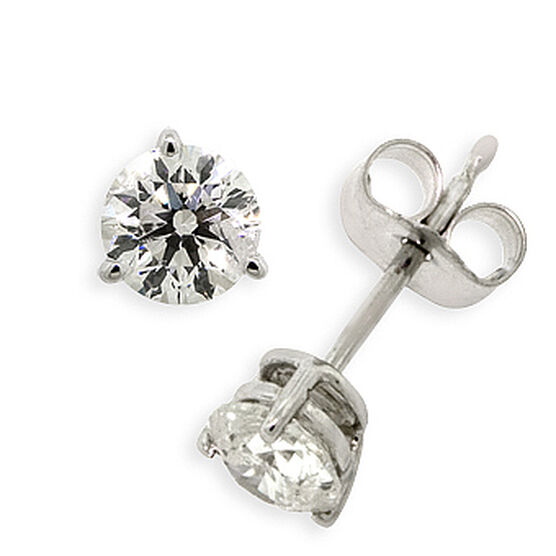 Diamond Solitaire Earrings 14K, 3/4 ctw.