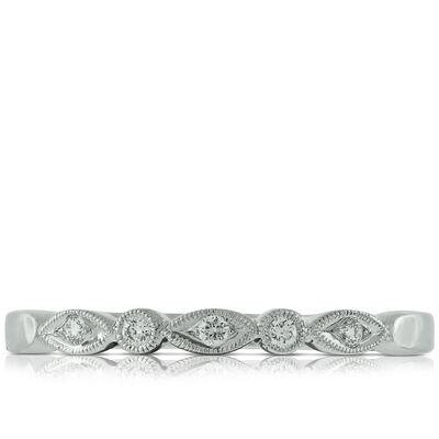 Milgrain Diamond Band 14K