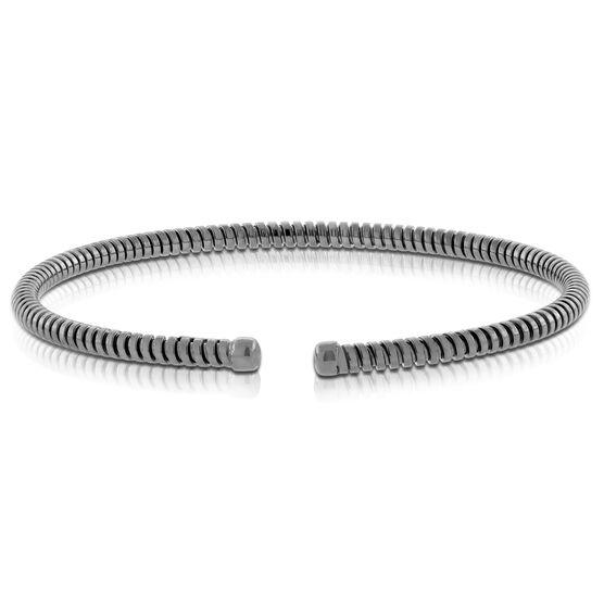 Cuff Bracelet, Black Rhodium Silver & Steel - Gift with Purchase