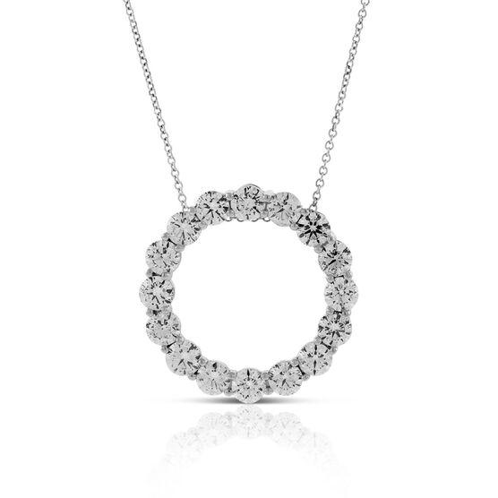 Circle Diamond Pendant 14K, 4 ctw.