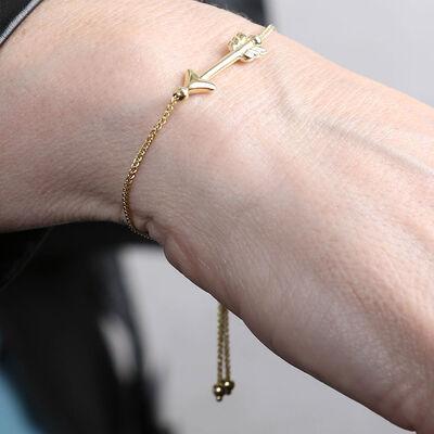 Bolo Arrow Bracelet 14K