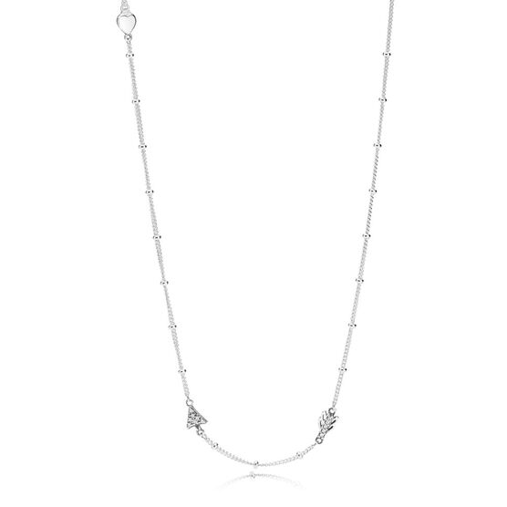 PANDORA Sparkling Arrow CZ Necklace
