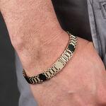 """Toscano Satin & Polished Link Bracelet, 8.5"""", 14K"""