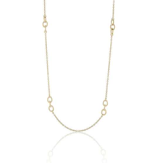 Toscano Interlocking Rings Station Necklace 18K