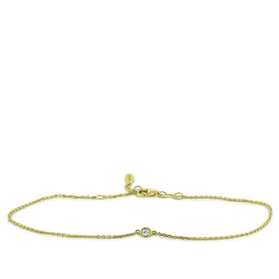 Bezel Set Diamond Bracelet 14K, 1/20 ct.