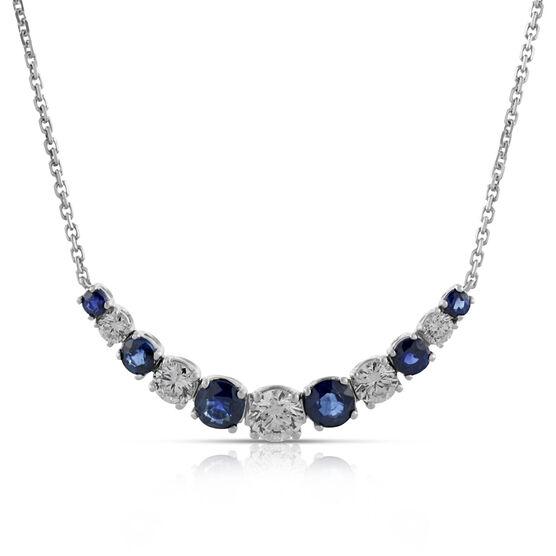 Sapphire & Diamond  Necklace 14K