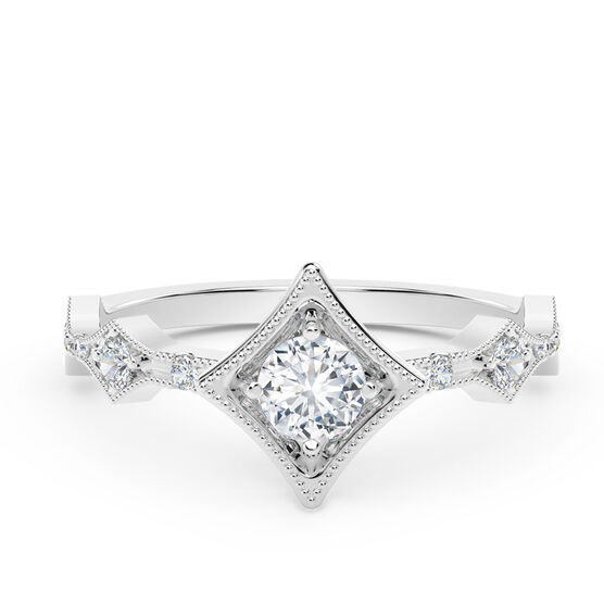 The Forevermark Tribute™ Collection Modern Diamond Ring 18K