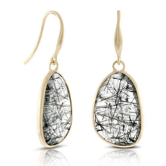 Lisa Bridge Rutilated Quartz Earrings 14K