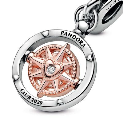 Pandora Rose™ Club 2020 Compass Dangle Diamond Charm