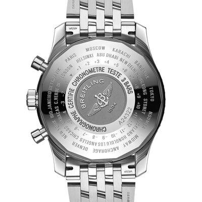 Breitling Navitimer Chronograph GMT 46 Blue Steel Watch, 46mm