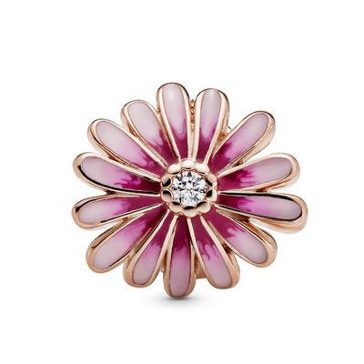 Pandora Rose™ Pink Daisy Flower Enamel & CZ Charm