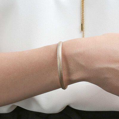 Toscano Soft Cuff Bracelet 14K
