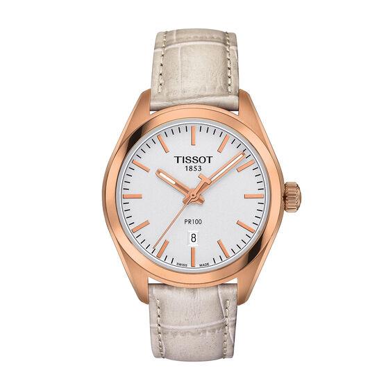 Tissot PR 100 Lady's T-Classic Rose PVD Quartz Watch, 33mm
