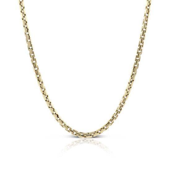 "Toscano Round Brick Link Necklace 14K, 24"""