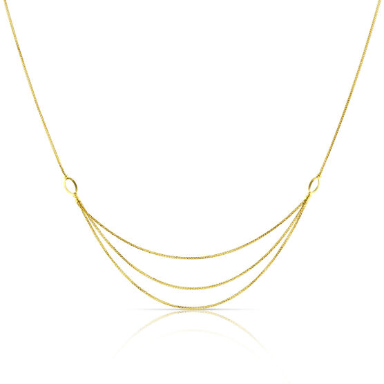 Triple Wheat Chain 14K, 20""