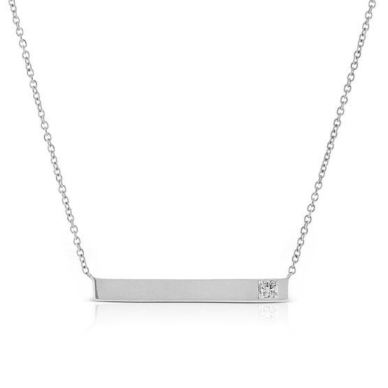 Ikuma Canadian Diamond Bar Necklace in 14K White Gold