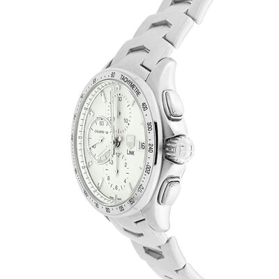 Pre-Owned TAG Heuer Link Silver Dial Chronograph Watch, 43mm