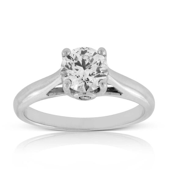 Ideal Cut Ikuma Canadian Diamond Solitaire 14K, 1 ctw.