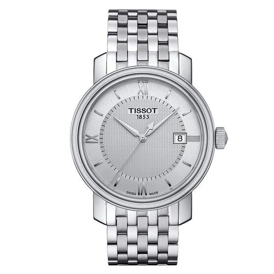 Tissot Bridgeport T-Classic Silver Dial Steel Quartz Watch, 40mm