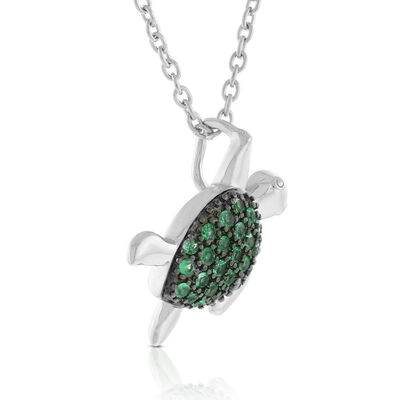 Lisa Bridge Emerald Turtle Necklace