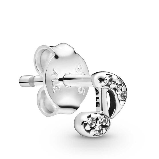 Pandora Me My Musical Note CZ Single Stud Earring