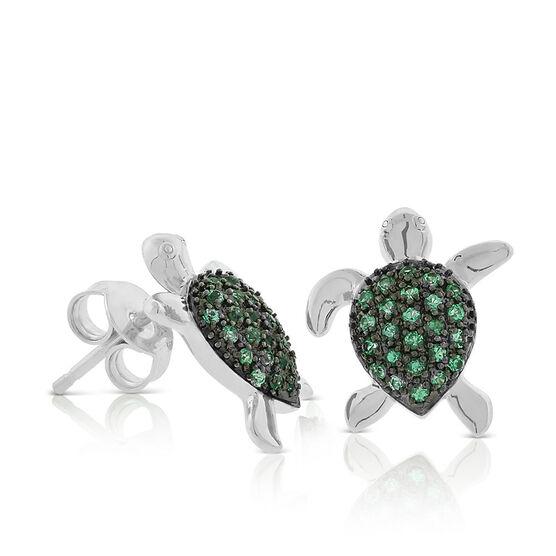 Lisa Bridge Emerald Turtle Stud Earrings