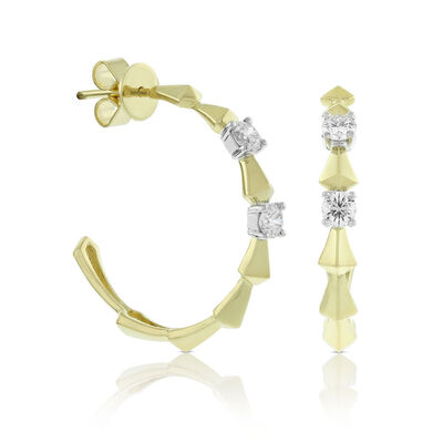 Jade Trau for Signature Forevermark Diamond Hoop Earrings18K