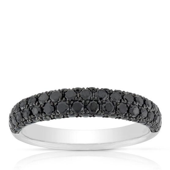 Black Diamond Pavé Ring 14K, Size 6.5