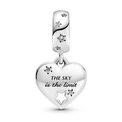 Pandora Congratulations Heart & Stars CZ Dangle Charm