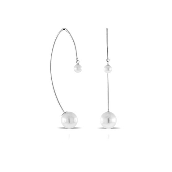 Cultured Akoya Pearl Threader Earrings 14K