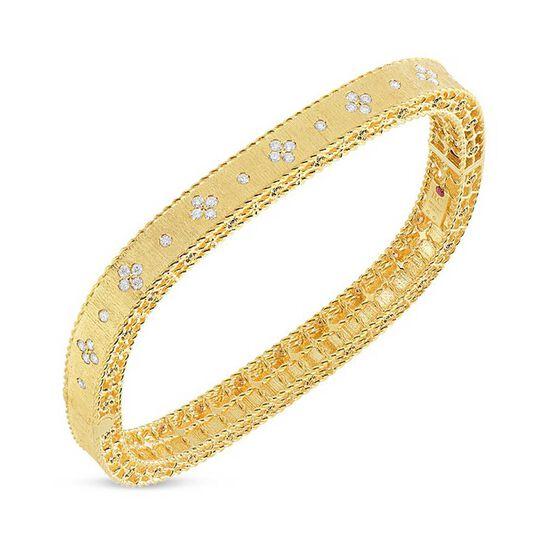 Roberto Coin Princess Fleur De Lis Diamond Bangle 18K