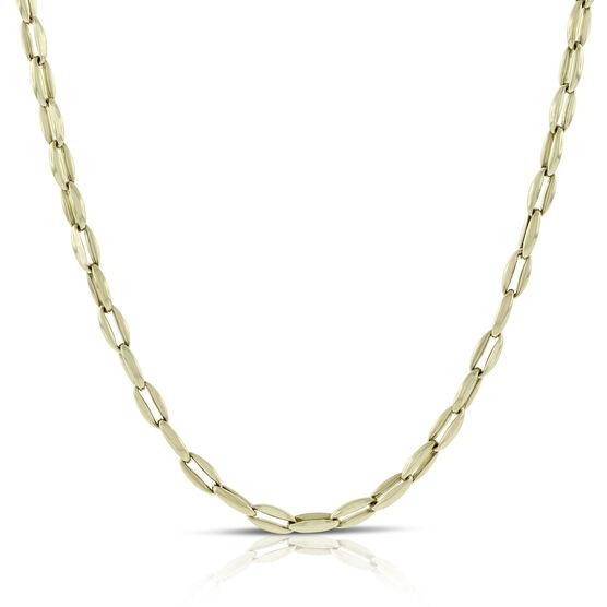Toscano Polished Link Necklace 14K