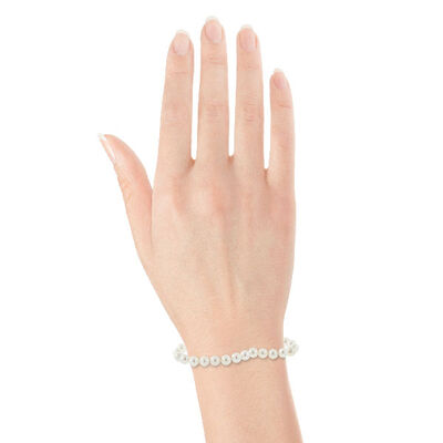 Akoya Cultured Pearl Bracelet 6mm, 14K