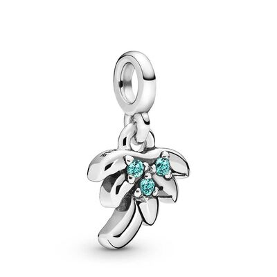 Pandora Me My Palm Tree Crystal Dangle Charm