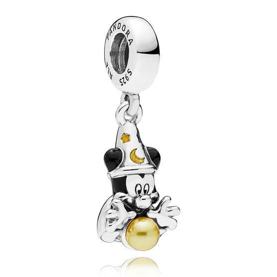 Pandora Disney, Sorcerer Mickey Enamel & Pearl Dangle Charm