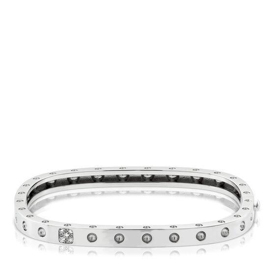 Roberto Coin Diamond Bangle Bracelet White Gold 18K